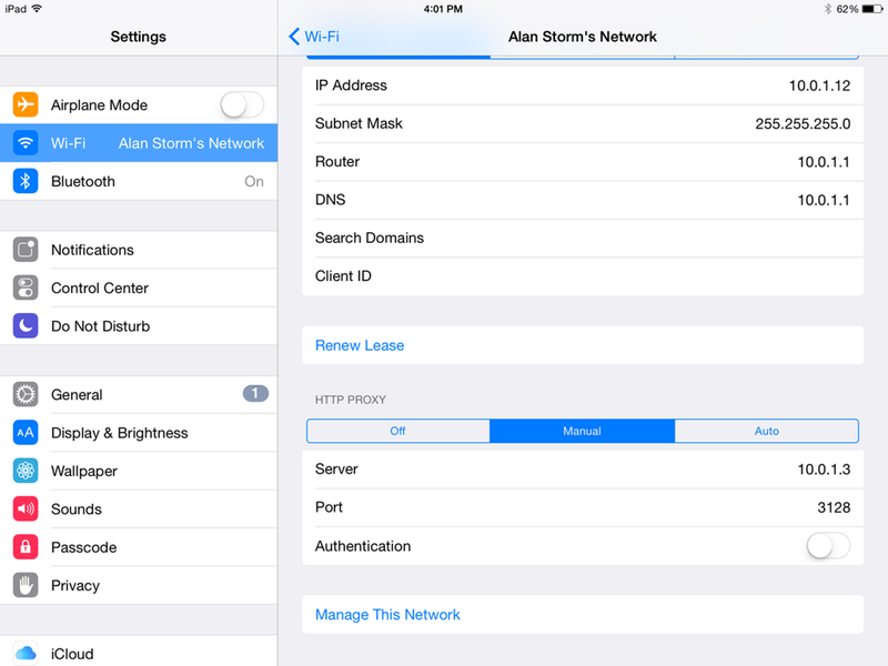Using Squid for Local Hostnames on iPads – Alan Storm